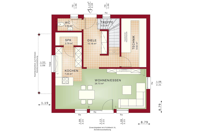 Bien Zenker - Gebäudeplan