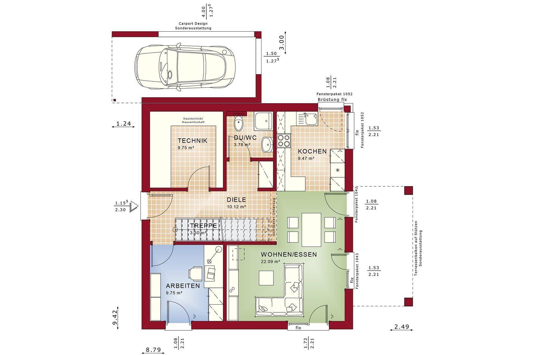 Gebäudeplan - Einfamilienhaus
