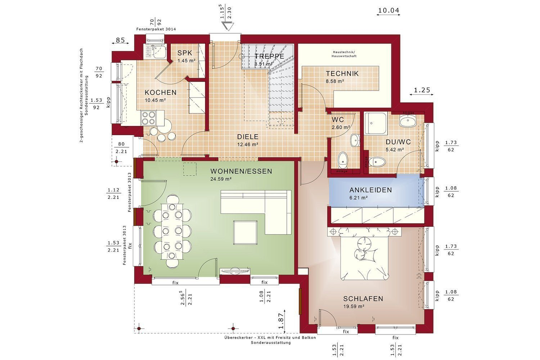 Gebäudeplan - Fertighaus