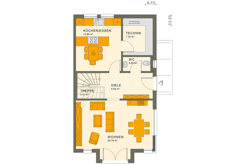 Duplex - Gebäudeplan