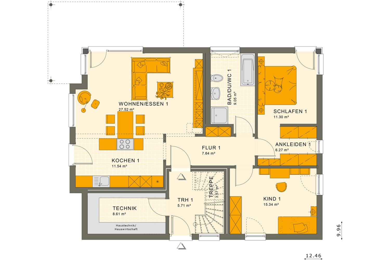 Haus - Gebäudeplan