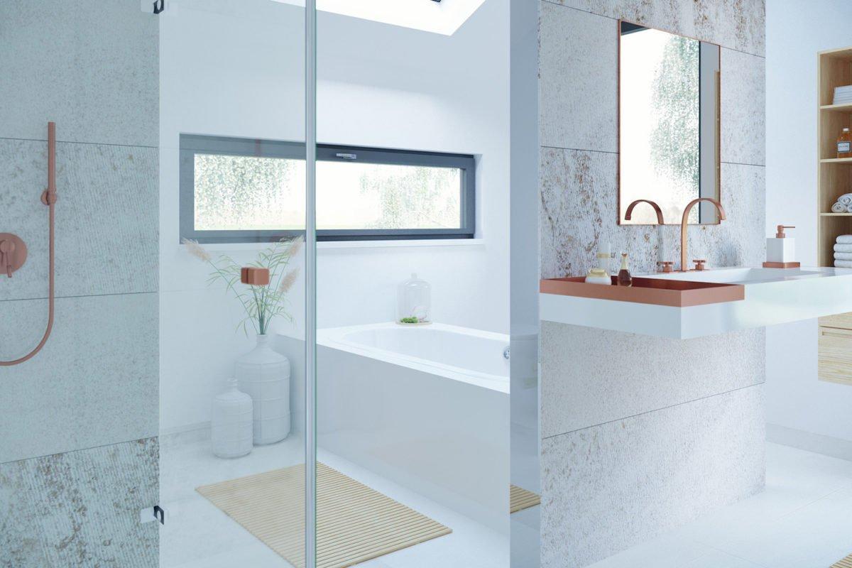 CONCEPT-M 153 Stuttgart - Ein Wohnzimmer mit Möbeln und einem großen Fenster - Haus-Plan