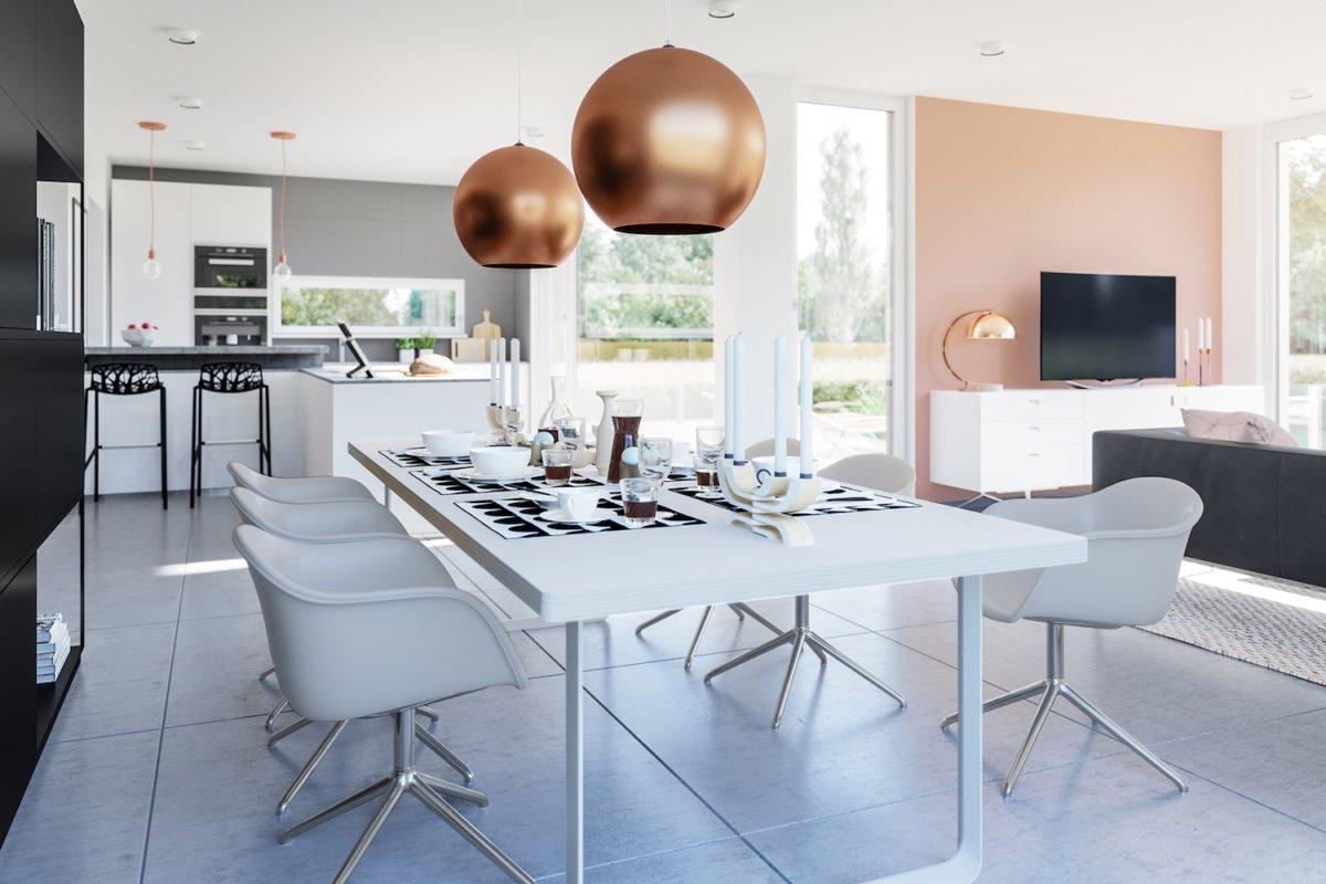 CONCEPT-M 154 Hannover - Ein Wohnzimmer mit Möbeln und einem großen Fenster - Bungalow
