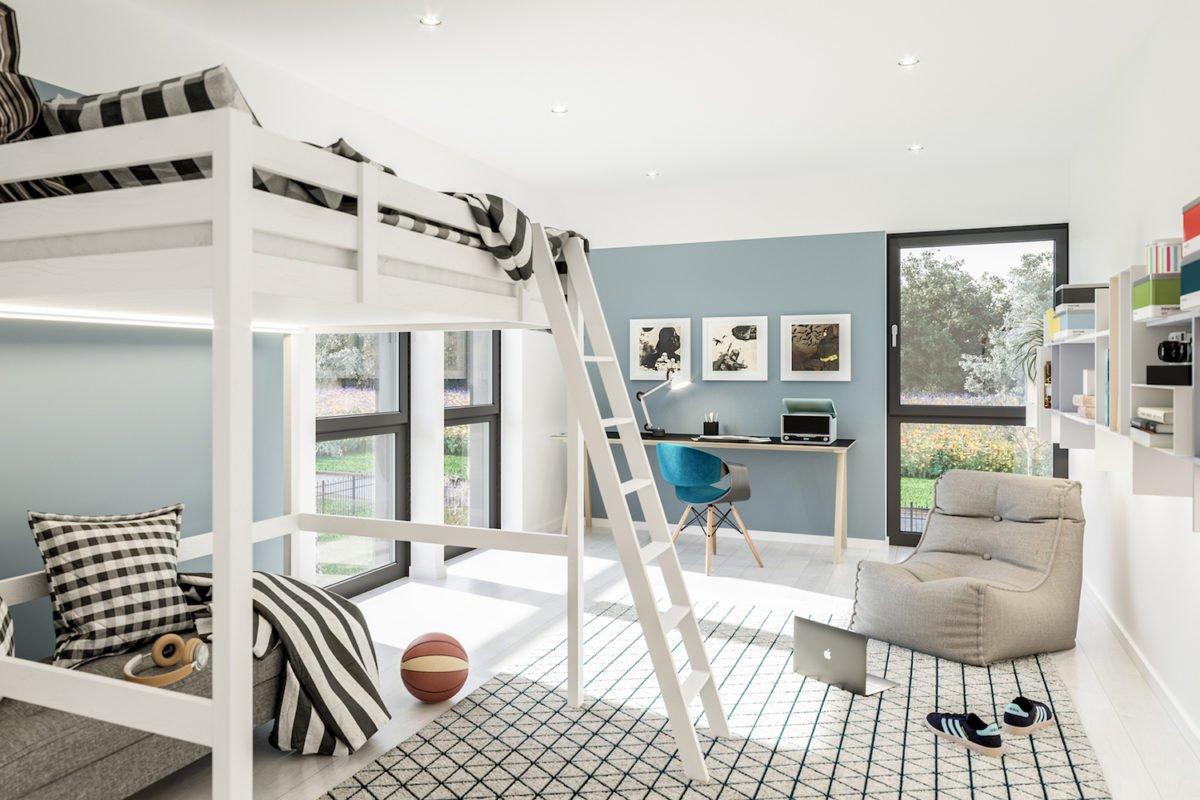 CELEBRATION 139 V3 - Ein Schlafzimmer mit einem Bett und einem Stuhl - Duplex