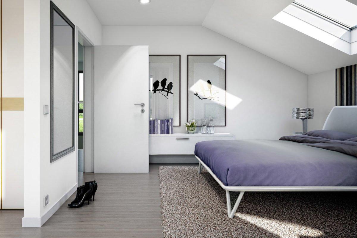 CONCEPT-M 152 Pfullingen - Ein Schlafzimmer mit einem großen Spiegel - Schlafzimmer