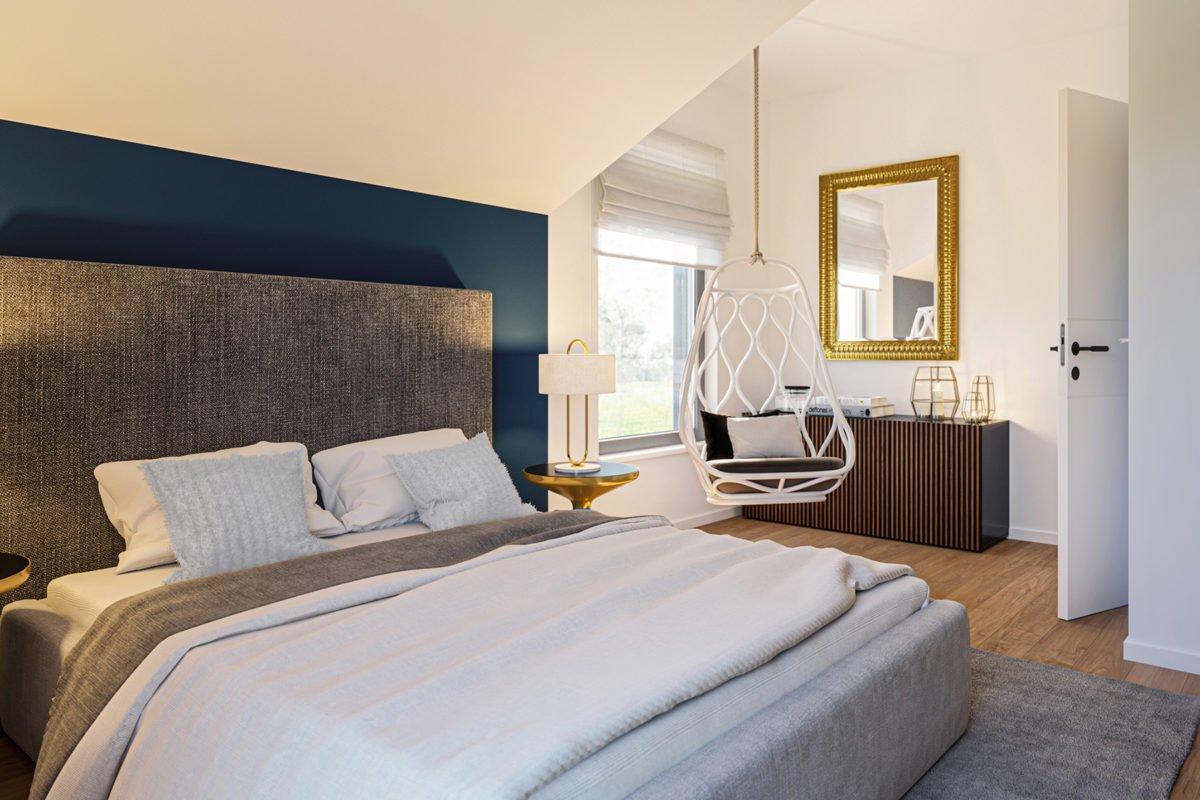 Automatisch gespeicherter Entwurf - Ein Schlafzimmer mit einem großen Bett in einem Hotelzimmer - Bien Zenker