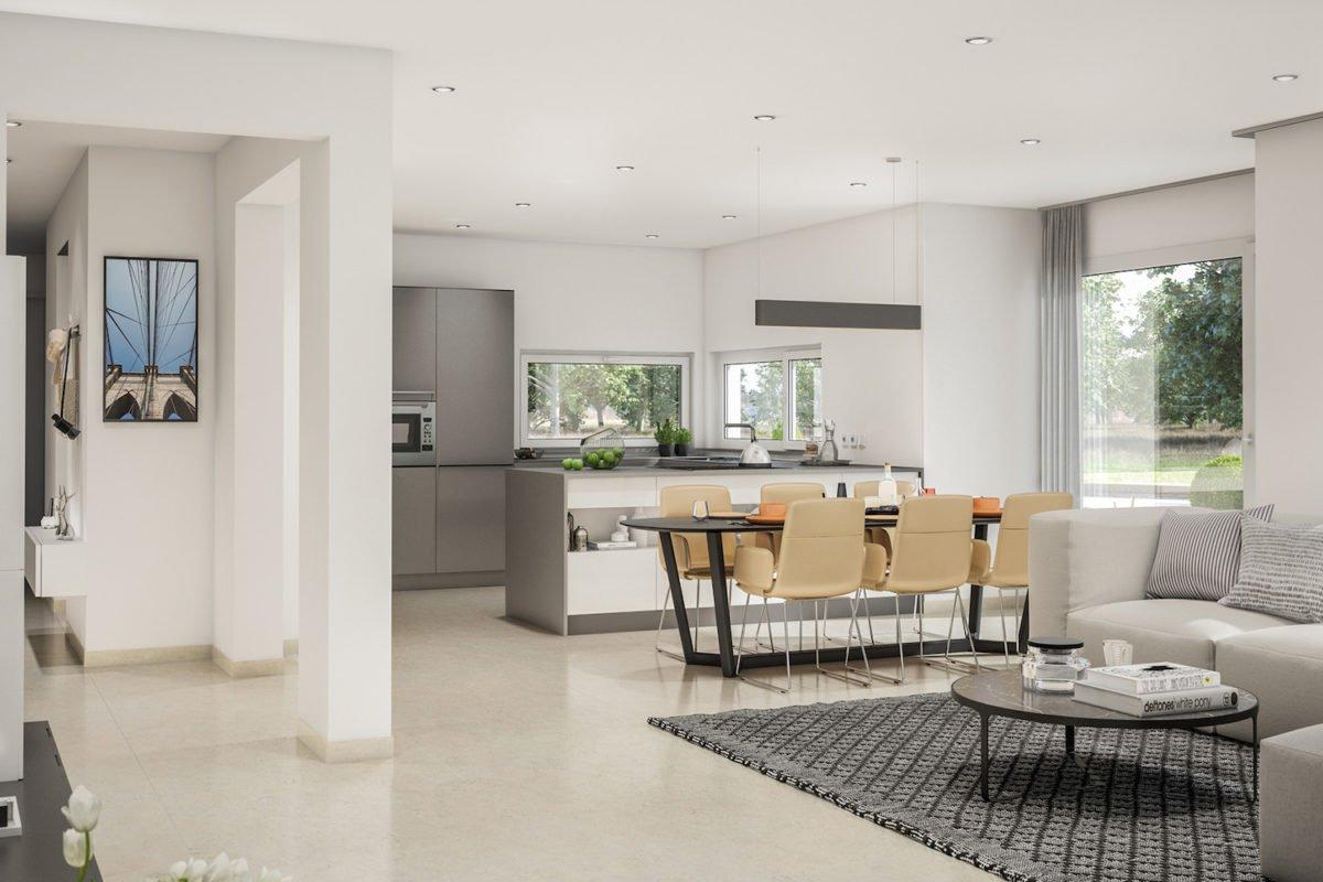 CONCEPT-M 166 Erfurt - Ein Wohnzimmer mit Möbeln und einem großen Fenster - Esszimmer