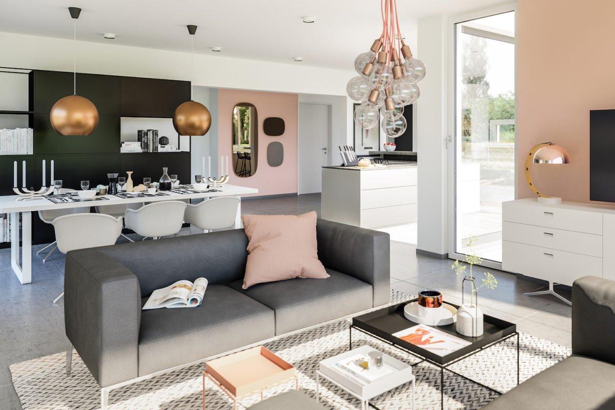 CONCEPT-M 154 Hannover - Ein Wohnzimmer mit Möbeln und einem Flachbildfernseher - Bien Zenker