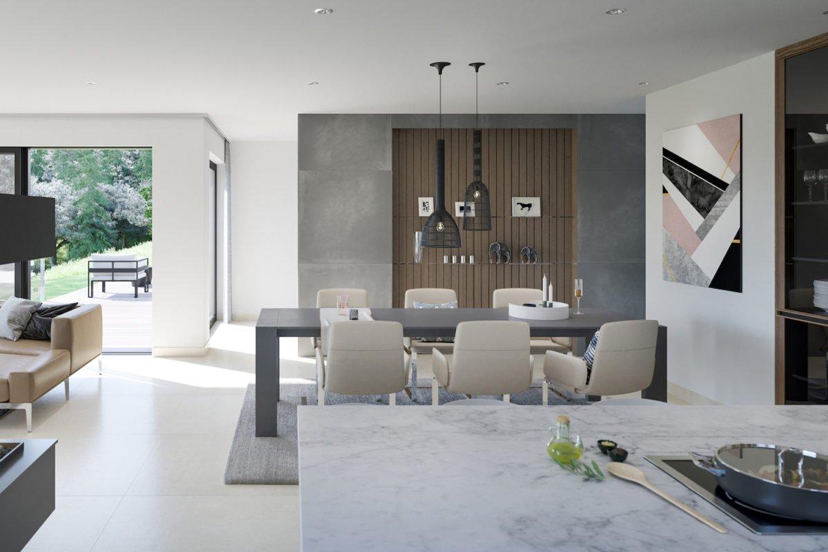 CONCEPT-M 170 Villingen-Schwenningen - Ein Wohnzimmer mit Möbeln und einem großen Fenster - Bien Zenker