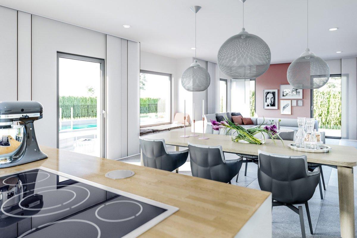 CONCEPT-M 167 Rheinbach - Ein Wohnzimmer mit Möbeln und einem großen Fenster - Bien Zenker