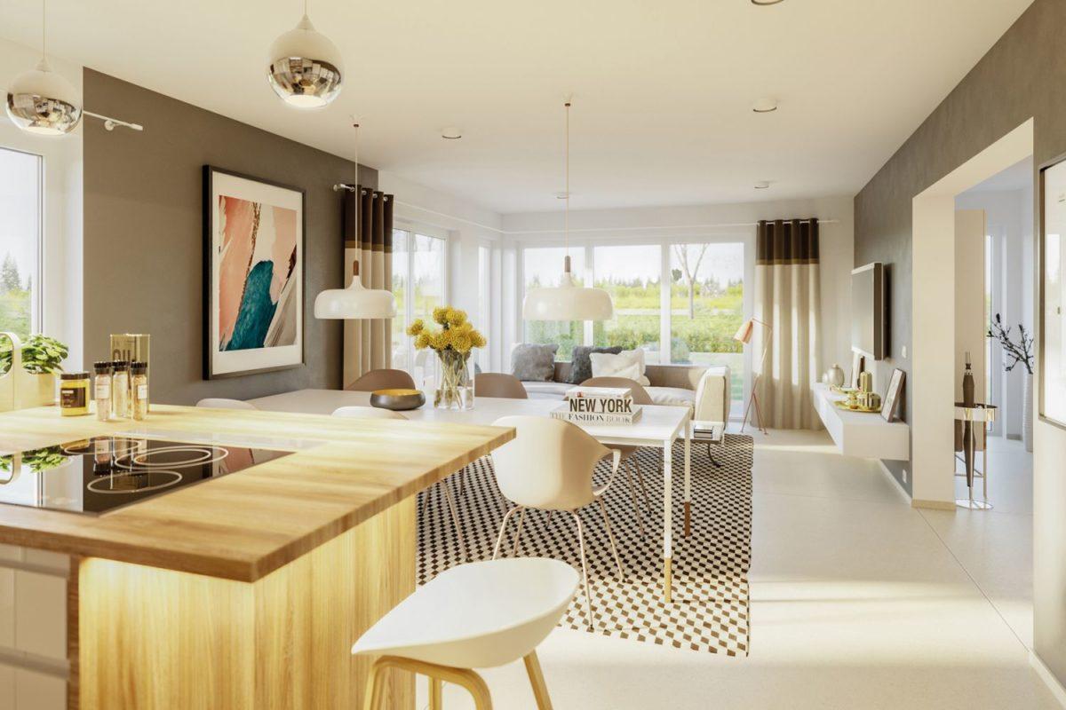 Automatisch gespeicherter Entwurf - Ein Raum voller Möbel und Blumenvasen auf einem Tisch - Interior Design Services
