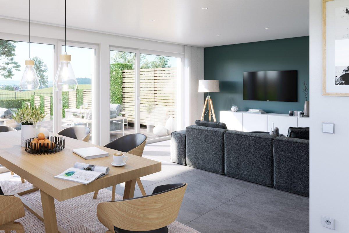 CELEBRATION 139 V3 - Ein Wohnzimmer mit Möbeln und einem großen Fenster - Duplex