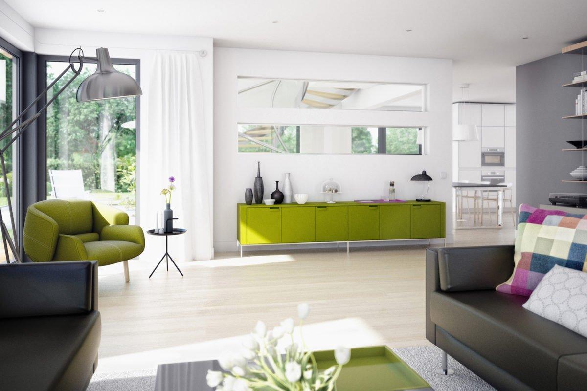 CONCEPT-M 159 Bad Vilbel - Eine Ansicht eines mit Möbeln gefüllten Wohnzimmers und eines großen Fensters - Bien Zenker