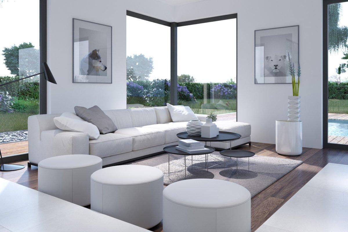 CONCEPT-M 153 Stuttgart - Ein Wohnzimmer mit Möbeln und einem großen Fenster - Bien Zenker