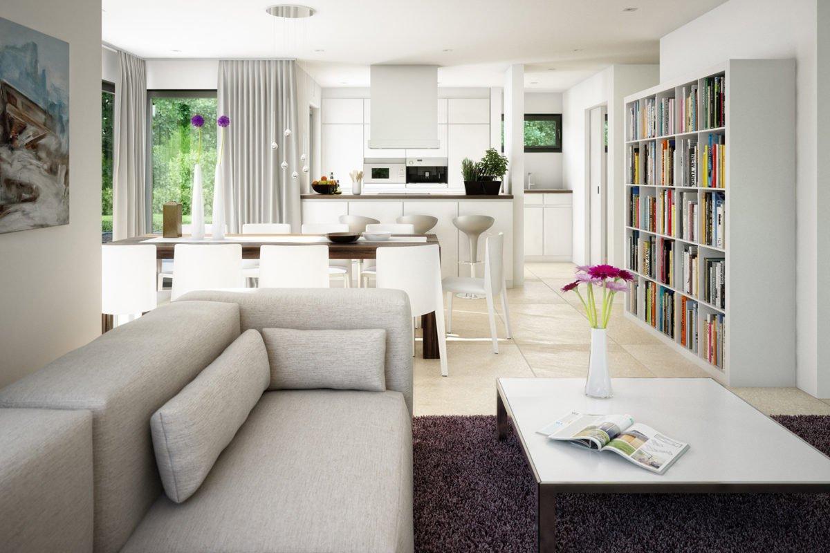CONCEPT-M 163 München - Eine Ansicht eines mit Möbeln gefüllten Wohnzimmers und eines großen Fensters - Haus