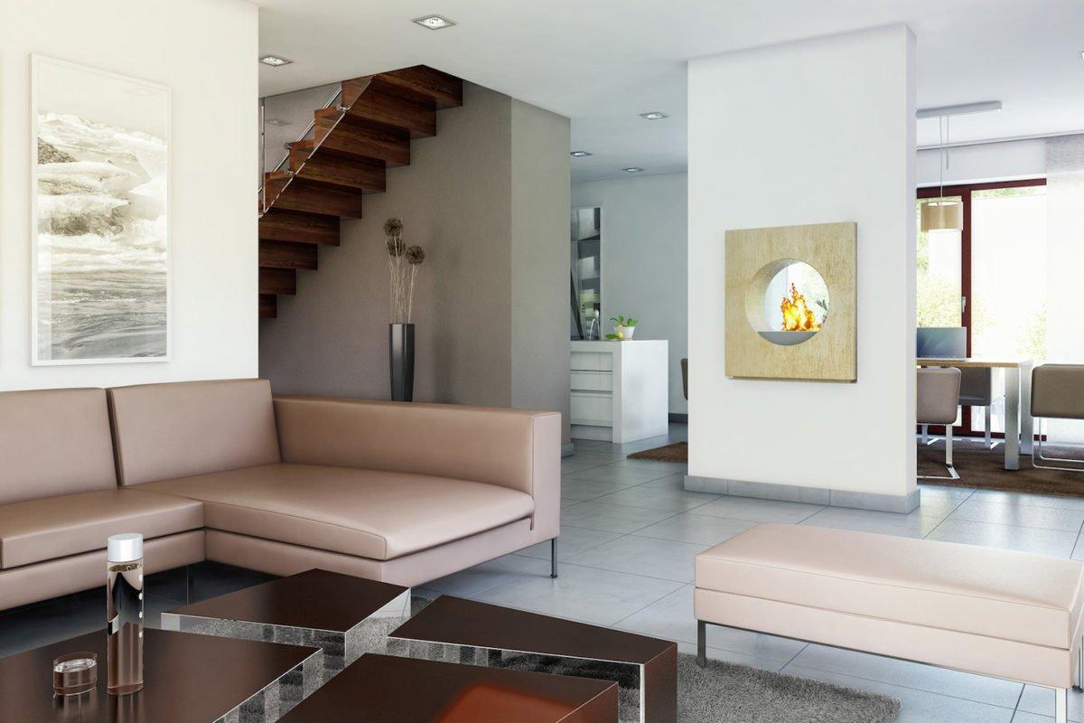 CONCEPT-M 172 Köln - Ein Wohnzimmer mit Möbeln und einem Flachbildfernseher - Bungalow