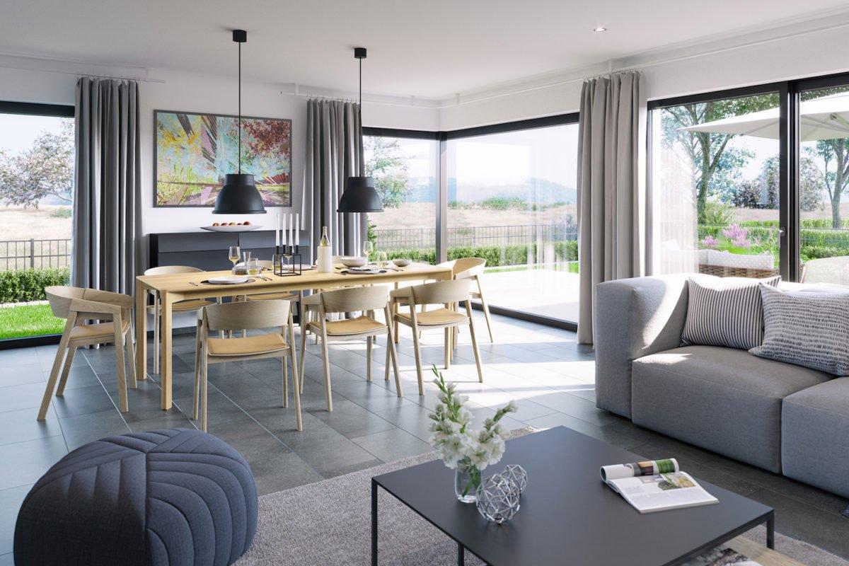 CELEBRATION 139 V3 - Ein Wohnzimmer mit Möbeln und einem großen Fenster - Bungalow