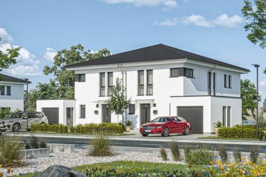 Doppelhaus D 114 A von Haas Haus