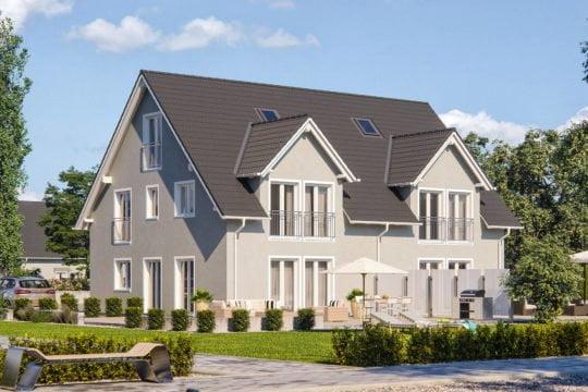Haas Haus Doppelhaus D 128 A
