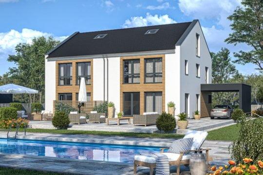 Haas Haus Doppelhaus D 128 B