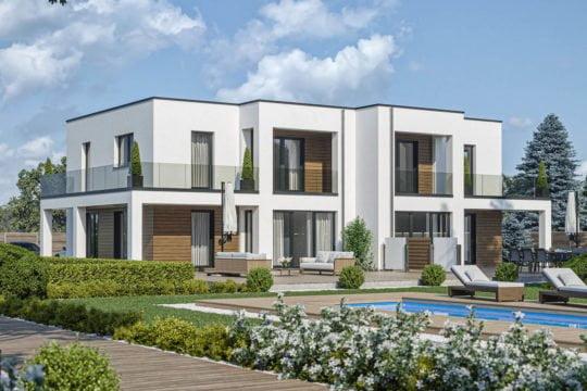 Doppelhaus D 110 A von Haas Haus