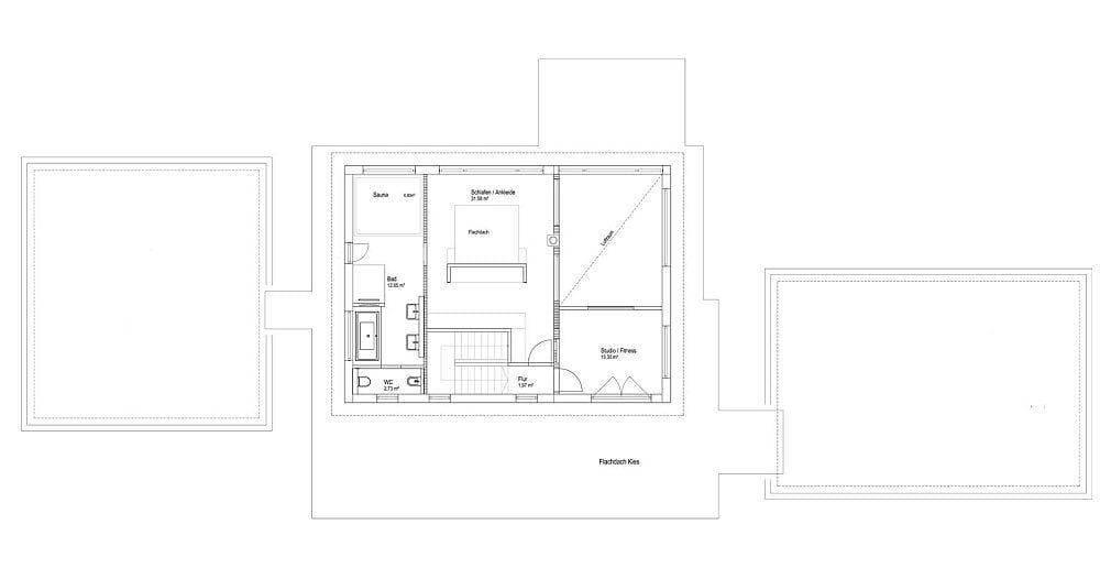 Luxhaus Flachdach 300 Grundriss OG