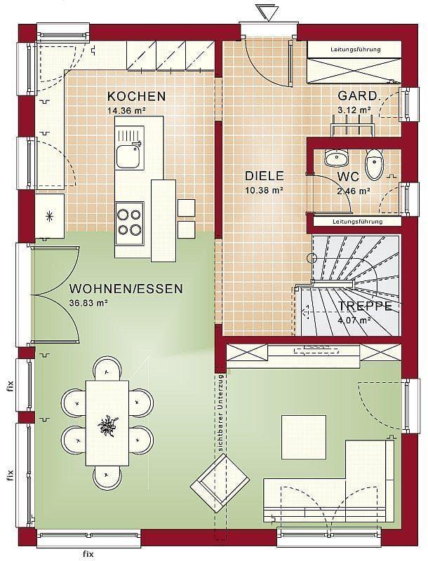 Bien Zenker Kundenhaus Jäger Grundriss EG