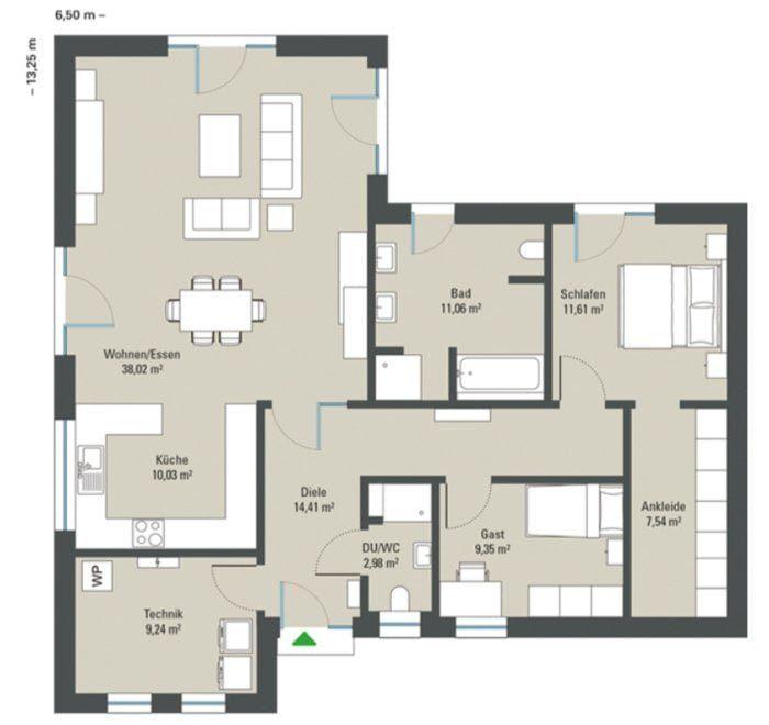 Grundriss Bungalow Venetien Gussek Haus