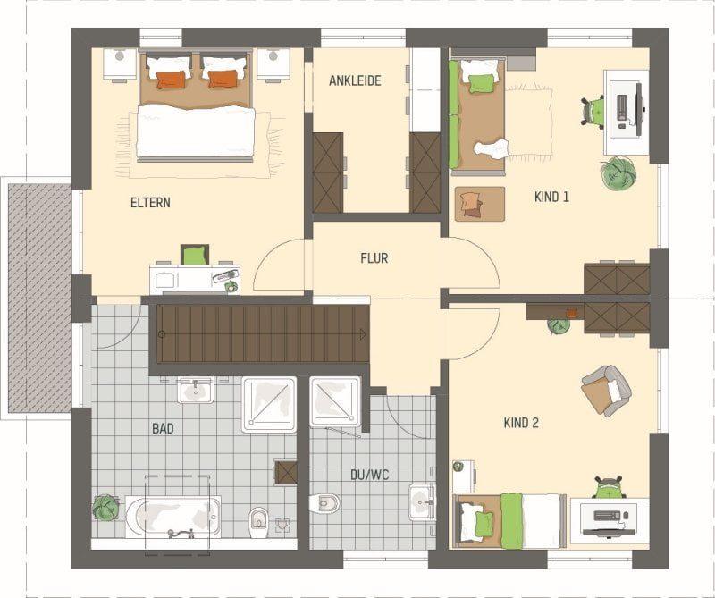 Grundriss DG Musterhaus ARTIS 302