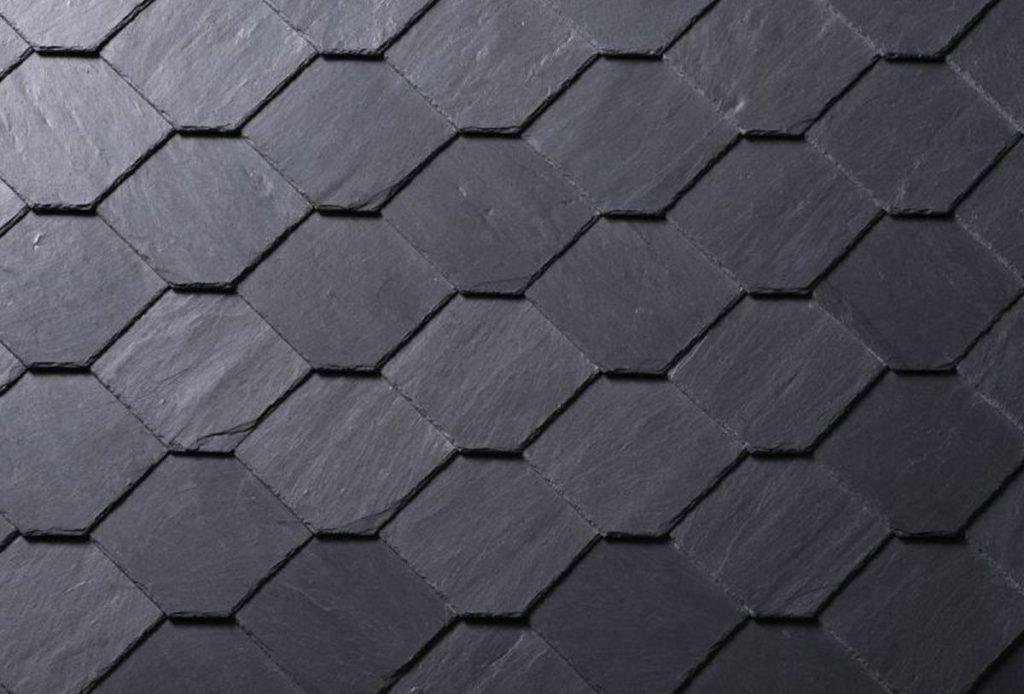 Fassadenschiefer mit Waben-Deckung
