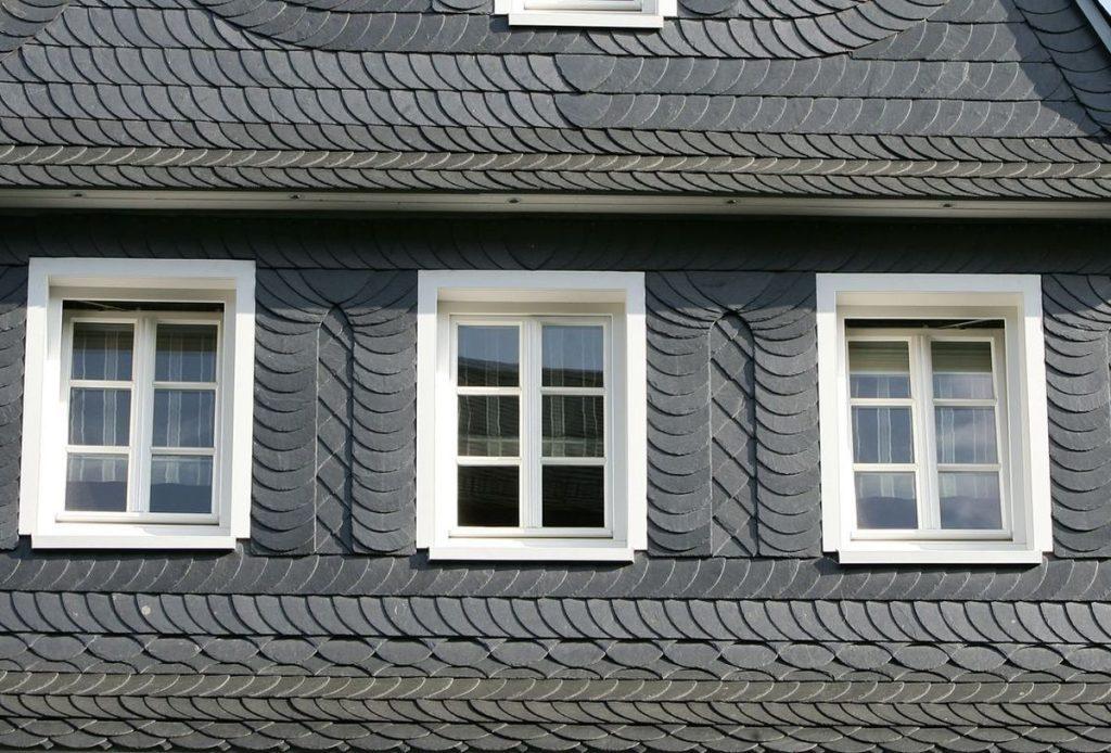 Fassadenschiefer mit Kettengebinde