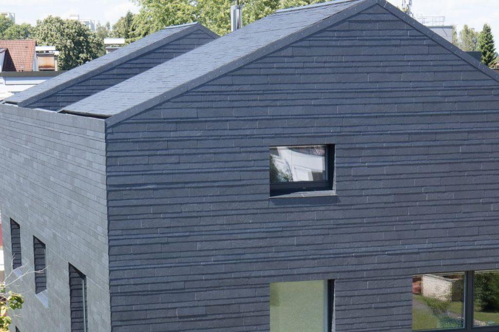 Dachschiefer mit dynamischer Rechteck-Doppeldeckung