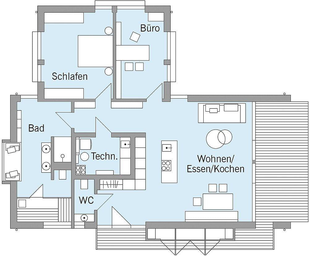 Baufritz Musterhaus Freiraum Grundriss
