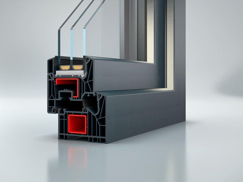 Plusenergiehäuser mit 3-fach-Verglasung von Schüco