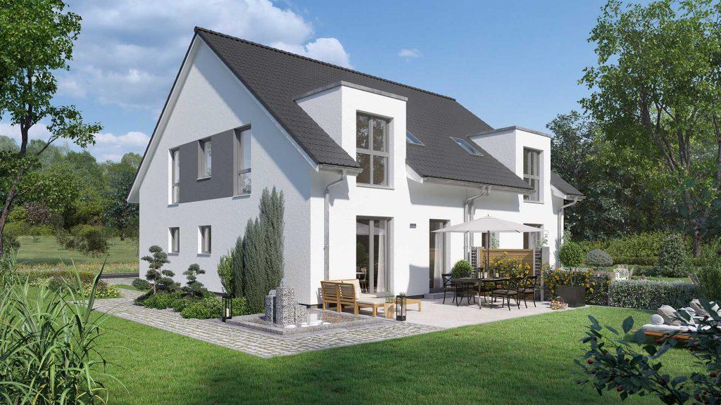 Günstiger Hausbau ist mit einer Doppelhaushälfte von Prohaus möglich.