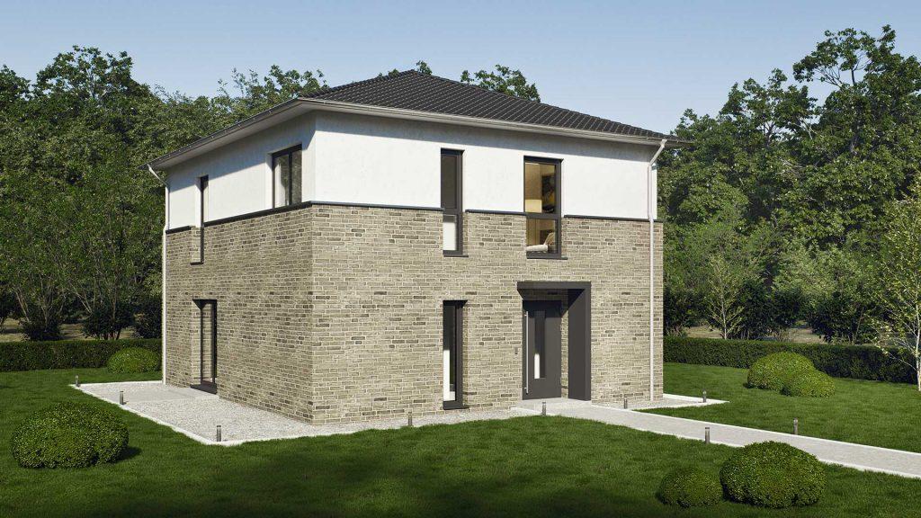 Günstiger Hausbau mit dem Stadthaus ProStyle 128/20.